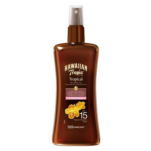 HAWAIIAN TROPIC  Protective Spray Dry Oil (SPF 15)