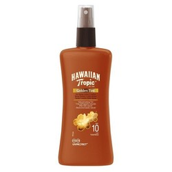 HAWAIIAN TROPIC  Golden Tint Sun Spray Lotion (SPF 10)